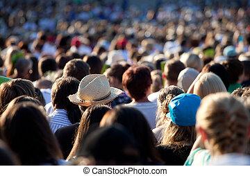大きい, 群集, 人々