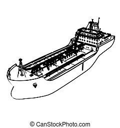 大きい, 船, タンカー