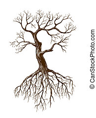 大きい, 葉がない, 木