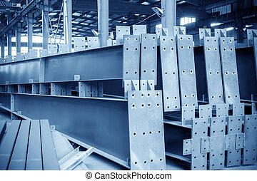 大きい, 鋼鉄, 倉庫, 工場