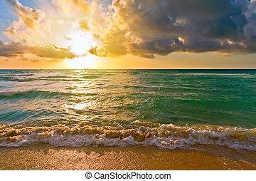 大西洋, fl, アメリカ, 日の出