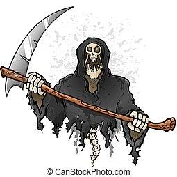 大鎌, 特徴, 刈り取り機, 死, 厳格, 保有物, 漫画