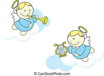 天使, 雲, 漫画