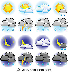 天候, ベクトル, アイコン