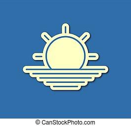 太陽, すてきである, シンボル, スティック