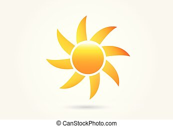 太陽, イメージ, ベクトル, ロゴ
