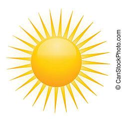 太陽, ベクトル, ロゴ