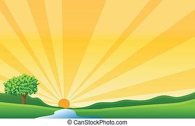 太陽, 川