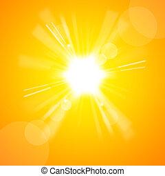太陽, 明るい, 黄色