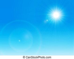 太陽, 晴れわたった空