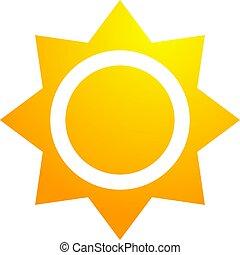 太陽, 暑い, シンボル, すてきである