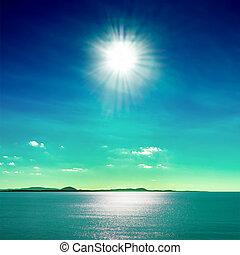 太陽, 海