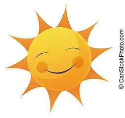 太陽, 漫画, 顔