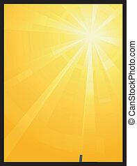 太陽, 非対称, 爆発, ライト, 黄色, オレンジ