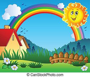 太陽, 風景, 虹