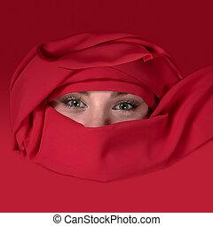 女の子, アラビア人