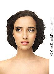 女の子, アラビア人, 美しい