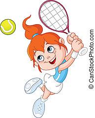 女の子, テニス