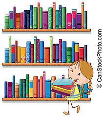 女の子, 図書館