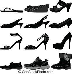 女の子, 女, 靴, 女性, はき物