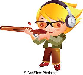 女の子, 射撃銃