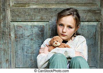 女の子, 悲しい