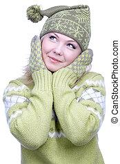 女の子, 暖かい, 衣服