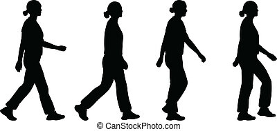 女の子, 歩くこと