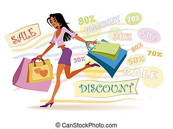女の子, 買い物