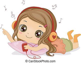 女の子, 音楽