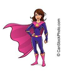 女の子, superhero, 地位