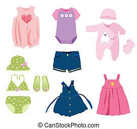 女の赤ん坊, 要素, 衣服