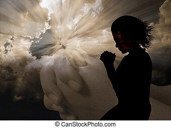 女性の祈ること, シルエット