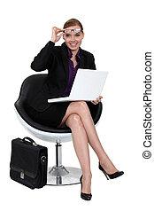 女性実業家, 現代, chair., モデル