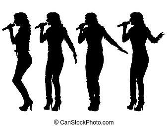 女性, 歌手