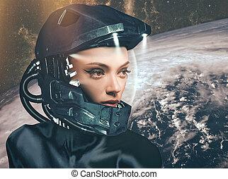 女性, 科学, 肖像画, フィクション