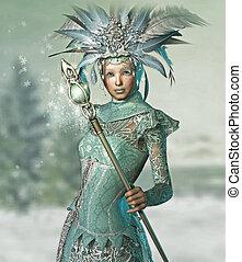 女王, 雪