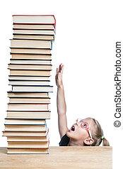 女生徒, 伸びる, 知識