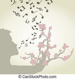 女, 歌うこと