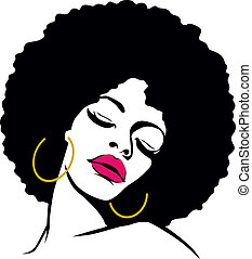 女, 毛, ヒッピー, 芸術, アフリカ, ポンとはじけなさい