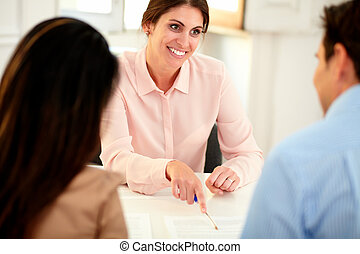 女, 財政, オフィス, 仕事, アドバイザー, 美しい