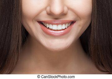 女, whitening., smile., care., 歯医者の, 歯