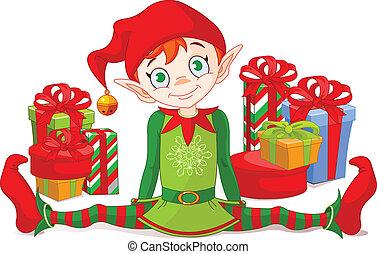 妖精, クリスマスの ギフト
