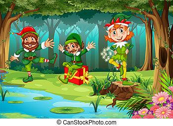 妖精, 森林, クリスマス