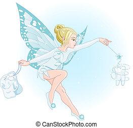 妖精, 魔法の 細い棒, 歯