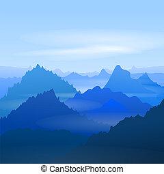 威厳がある, 青い山