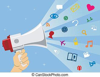 媒体, コミュニケーション, 社会