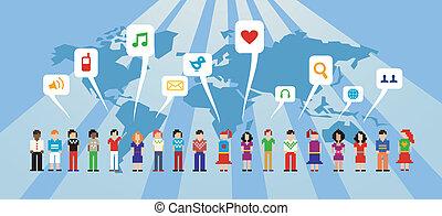 媒体, ネットワーク, 社会