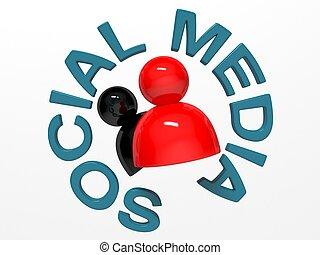 媒体, 概念, ネットワーキング, 社会