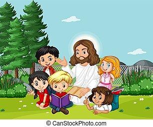 子供, イエス・キリスト, 公園